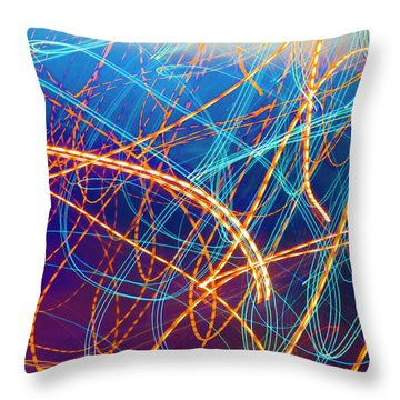 Energy Throw Pillow by Betsy Knapp