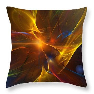 Energy Matrix Throw Pillow by David Lane