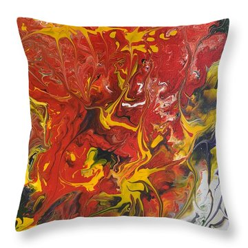 Energy Of Creation Throw Pillow by Georgeta  Blanaru