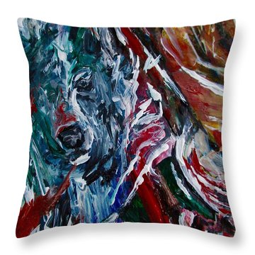 Energy Of Fire Throw Pillow