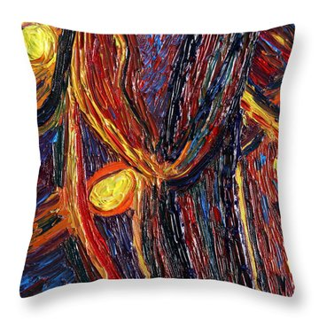 Energy Of Two Throw Pillow