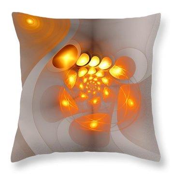 Throw Pillow featuring the digital art Energy Source by Anastasiya Malakhova