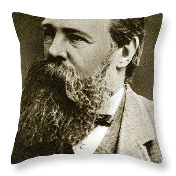 Engels Throw Pillow