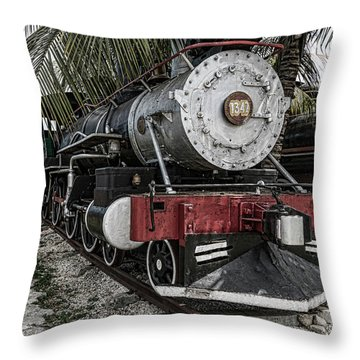 Engine 1342 Parked Throw Pillow