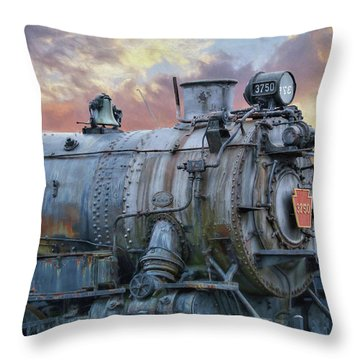 Throw Pillow featuring the photograph Engine 3750 by Lori Deiter