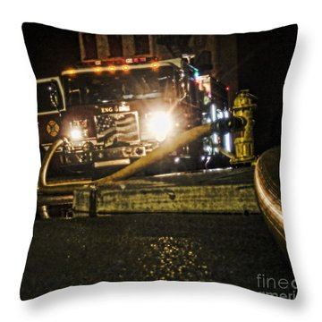 Engine 4 Throw Pillow by Jim Lepard