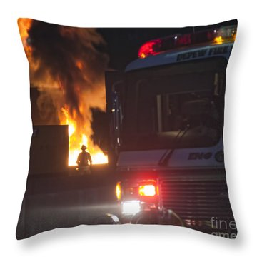 Engine 6 Throw Pillow