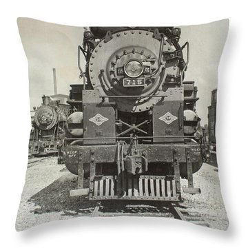 Engine 715 Throw Pillow