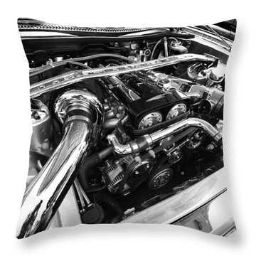 Engine Bay Throw Pillow