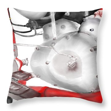 Engine Detail Throw Pillow