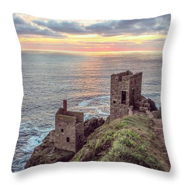 Engine Houses At Crown Mines Throw Pillow