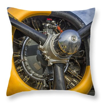 Engine Of B-25 Throw Pillow