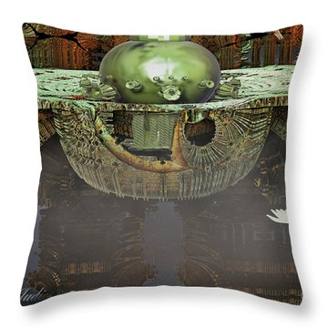 Engine Room Fractal Throw Pillow by Melissa Messick