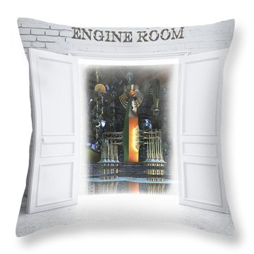 Engine Room Throw Pillow by Melissa Messick
