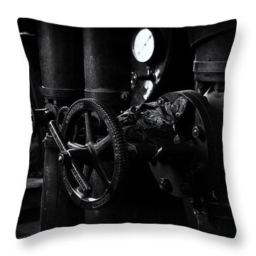 Throw Pillow featuring the photograph Engine Room by Tim Nichols