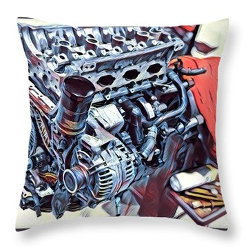 Engine  Throw Pillow