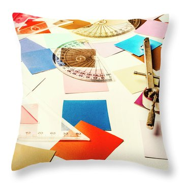 Engineering Colour Rules Throw Pillow