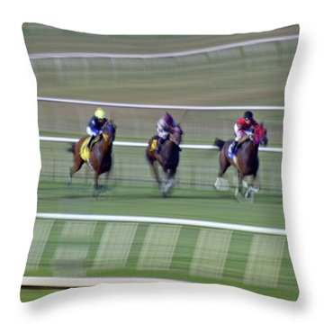 Engineering The Winning Horse Throw Pillow