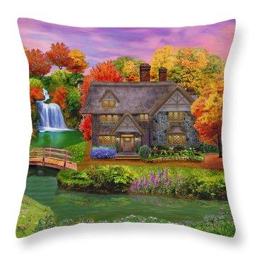 England Country Autumn Throw Pillow