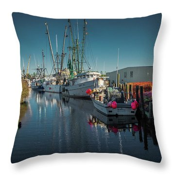 Englehardt,nc Fishing Town Throw Pillow