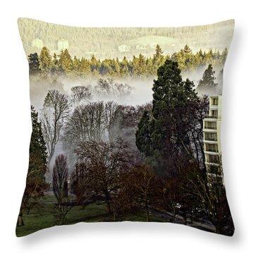 English Bay Fog #2 Throw Pillow
