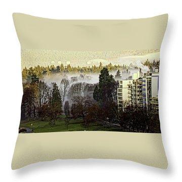 English Bay Fog Throw Pillow