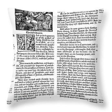English Bible, 1535 Throw Pillow by Granger