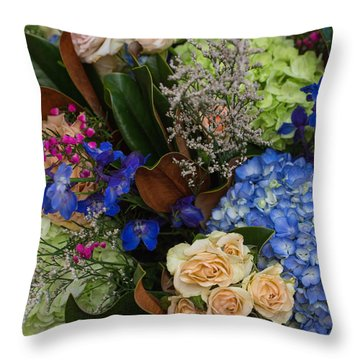 Throw Pillow featuring the photograph English Bouquet by Julie Andel
