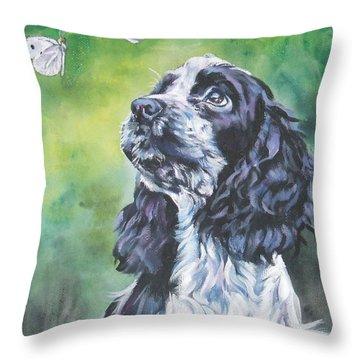 English Cocker Spaniel  Throw Pillow by Lee Ann Shepard