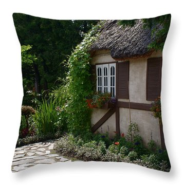 English Cottage Throw Pillow by Joanne Smoley