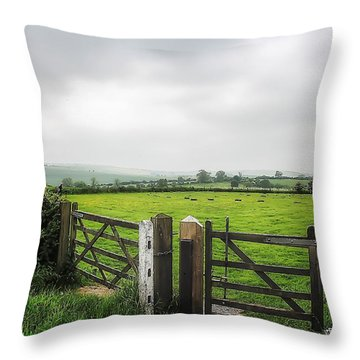 English Country Landscape 1 Throw Pillow by Wallaroo Images