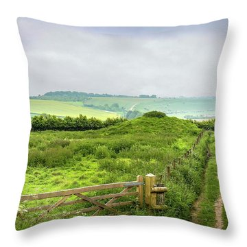 English Country Landscape 2 Throw Pillow by Wallaroo Images