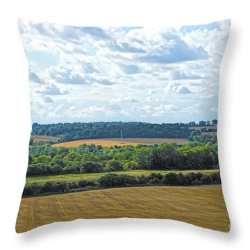 English Countryside Throw Pillow by Andrew Middleton