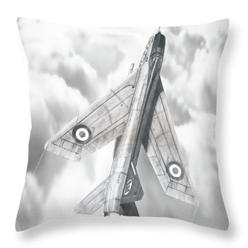 English Electric Lightning F.1a Throw Pillow
