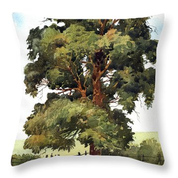 English Elm Throw Pillow