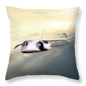Throw Pillow featuring the digital art English Enigma by Peter Chilelli