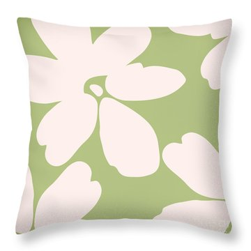 English Garden Floral Pattern Throw Pillow