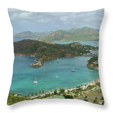 English Harbour Antigua Throw Pillow by John Edwards