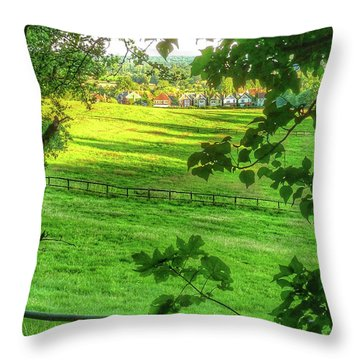 English Summer Contentment  Throw Pillow