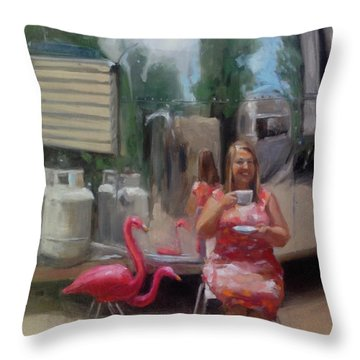 English Tea Time In Taos Throw Pillow