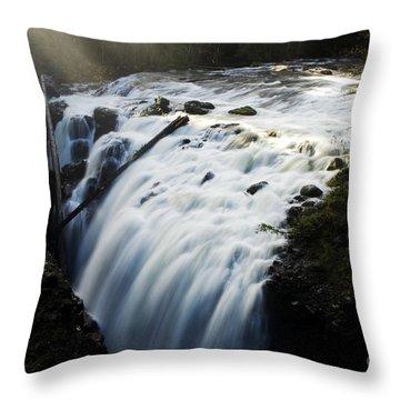 Englishman Falls Throw Pillow by Bob Christopher