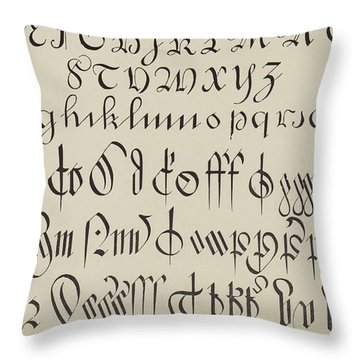 Engrossing And Court Hand  Throw Pillow