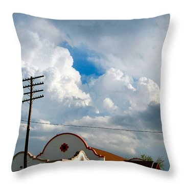 Enid America Depot Throw Pillow