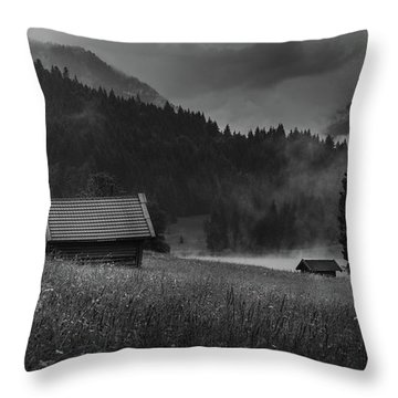 Enigmatic Alps Throw Pillow