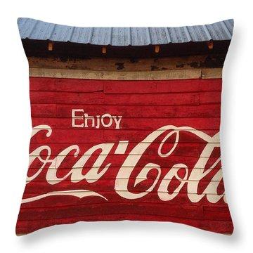 Enjoy Coke Throw Pillow