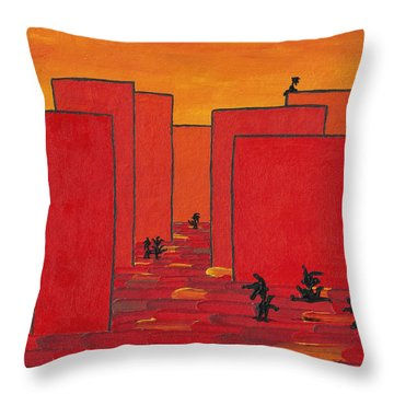 Enjoy Dancing In Red Town P2 Throw Pillow