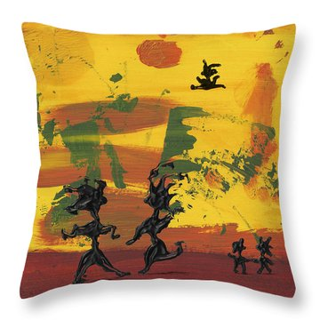 Enjoy Dancing Throw Pillow