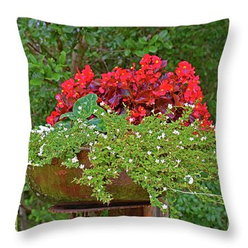 Enjoy The Garden Throw Pillow