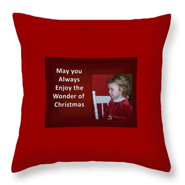 Throw Pillow featuring the digital art Enjoy The Wonder Of Christmas by Sonya Nancy Capling-Bacle