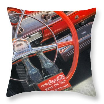 Throw Pillow featuring the photograph Enjoy While You Shop by Michael Hope
